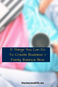 business and family balance