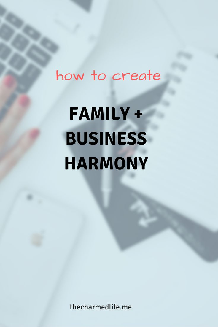 family and business harmony